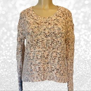 Hinge Fall Colors Knit Crew Neck Sweater